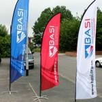 banderas promocionales evento